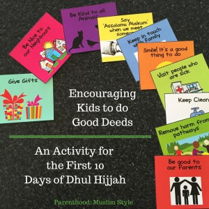 Activity for Kids in Dhul Hijjah Encouraging Good Deeds